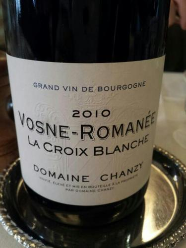 domaine chanzy la croix blanche vosne roman e 2010 wine info. Black Bedroom Furniture Sets. Home Design Ideas