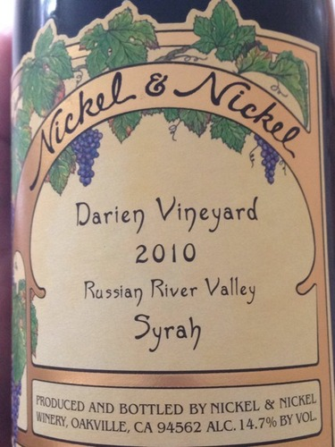 nickel nickel syrah darien vineyard wine info. Black Bedroom Furniture Sets. Home Design Ideas