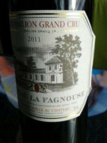 ch teau la fagnouse saint milion grand cru 2011 wine info. Black Bedroom Furniture Sets. Home Design Ideas