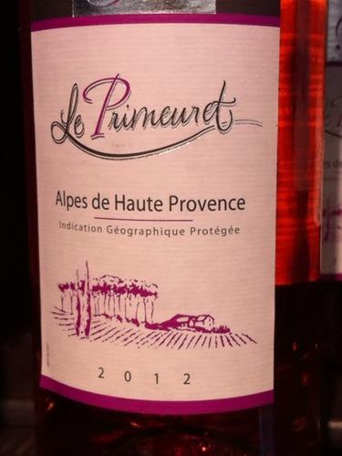 Le primeuret alpes de haute provence 2015 wine info for Haute provence info