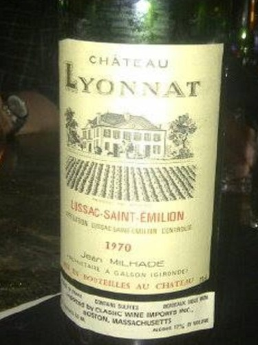 Ch teau lyonnat emotion lussac st milion 1970 wine info for Chateau lyonnat