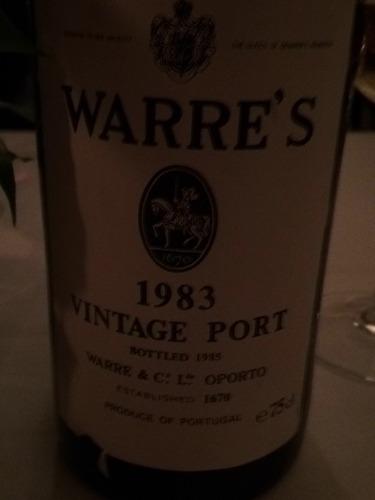 Le port vintage de Warre 1983