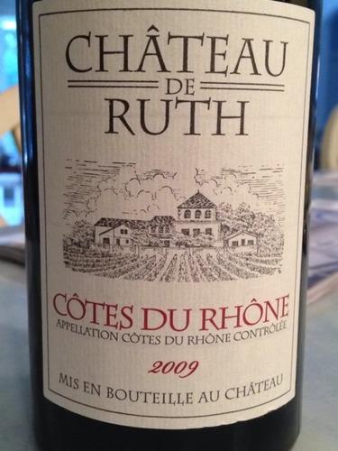 ch teau de ruth c tes du rh ne 2009 wine info