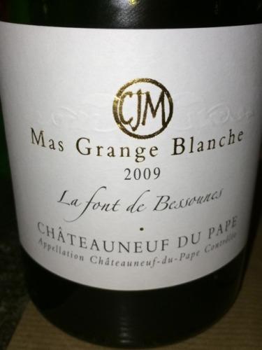 Mas grange blanche ch teauneuf du pape la font des bessounes 1991 wine info - Urgence grange blanche ...