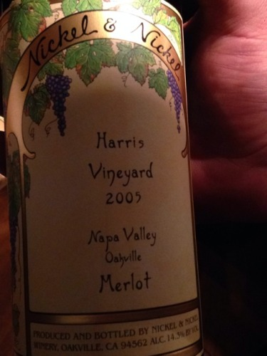 nickel nickel harris vineyard merlot 2005 wine info. Black Bedroom Furniture Sets. Home Design Ideas