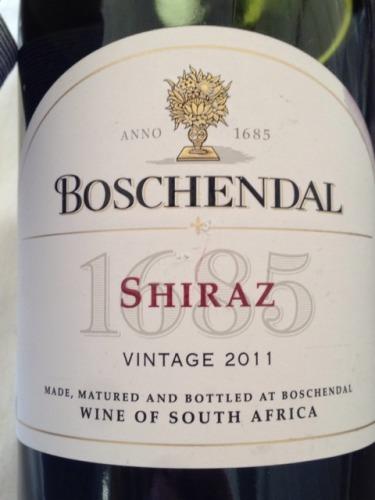 Boschendal shiraz 1685 wine info for Boschendal wine
