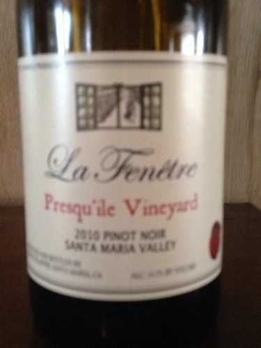 La fenetre presquile vineyard santa maria valley pinot for La fenetre wine