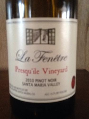 La fenetre presquile vineyard santa maria valley pinot for La fenetre pinot noir 2009
