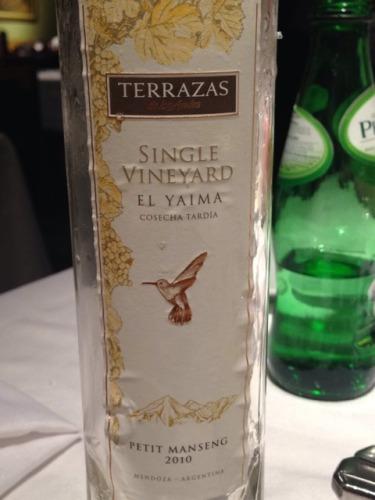 Terrazas De Los Andes Single Vineyard El Yaima Petit Manseng 2010