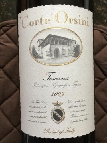 Corte Orsini Toscana 2009 | Wine Info