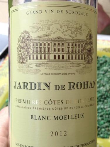 Jardin de rohan premieres c tes de bordeaux blanc moelleux for Jardin winery