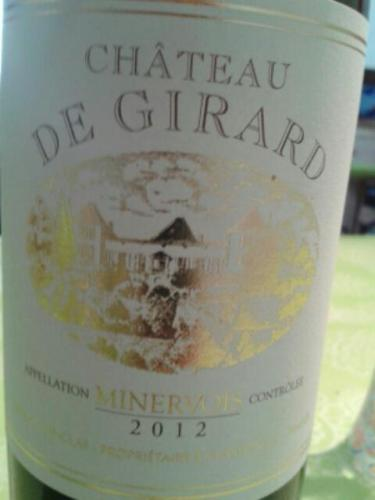 ch teau de girard minervois 2012 wine info. Black Bedroom Furniture Sets. Home Design Ideas
