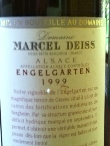 Domaine marcel deiss engelgarten le jardin des anges 1999 for Le jardin wine