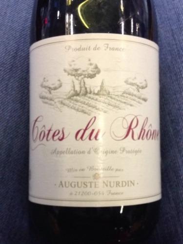 Auguste nurdin c tes du rh ne wine info for Auguste chabaud cote