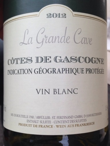 la grande cave c tes de gascogne vin blanc 2012 wine info. Black Bedroom Furniture Sets. Home Design Ideas