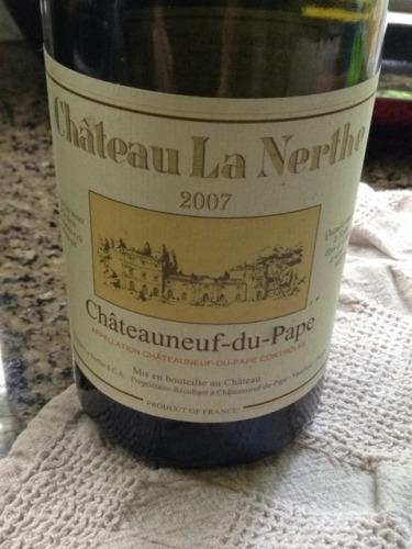 Ch teau la nerthe ch teauneuf du pape 2007 wine info for Chateau la nerthe