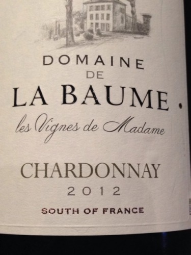 domaine de la baume chardonnay les vignes de madame 2012. Black Bedroom Furniture Sets. Home Design Ideas