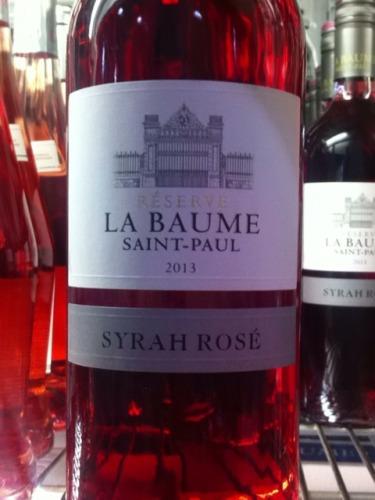 Domaine de la baume syrah r serve saint paul ros 2013 - Domaine de la baume ...