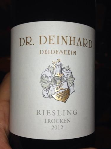 Dr deinhard deidesheim trocken riesling 2013 wine info for Deinhard wine