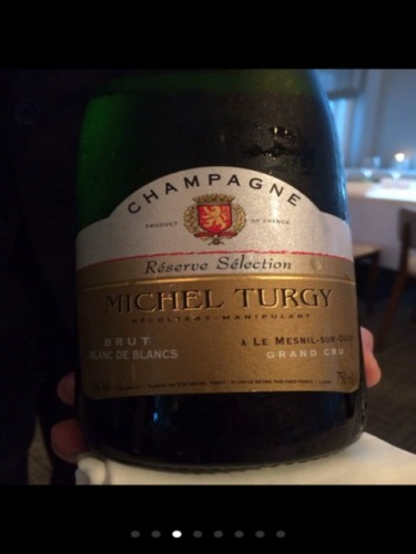 Michel turgy champagne le mesnil sur oger r serve selection blanc de blancs grand cru brut nv for Salon blanc de blancs le mesnil sur oger