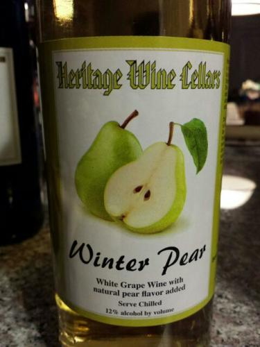 Heritage Wine Cellars Winter Pear