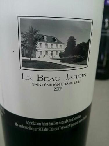 Ch teau teyssier le beau jardin saint milion grand cru for Grand jardin wine