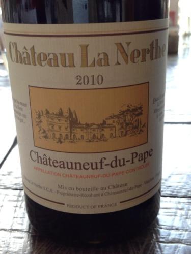 Ch teau la nerthe ch teauneuf du pape blanc for Chateau la nerthe