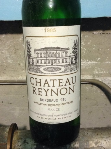 Ch teau reynon bordeaux sec 1985 wine info for Chateau reynon