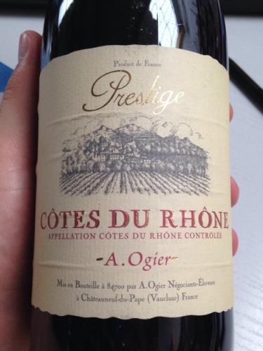 Prestige Auto Du Rhône : ogier prestige c tes du rh ne wine info ~ Gottalentnigeria.com Avis de Voitures