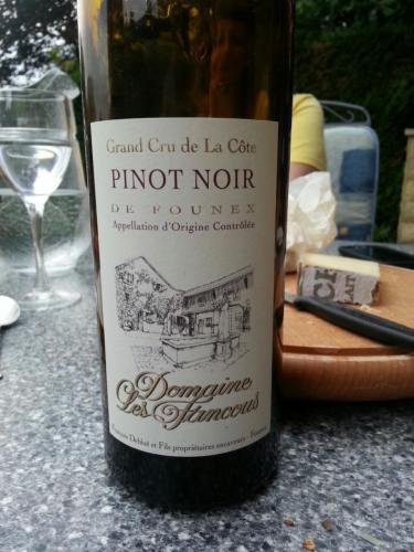 Les fancous la c te grand cru de founex pinot noir wine info for La fenetre a cote pinot noir 2012