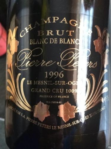 Pierre peters champagne le mesnil sur oger grand cru blanc de blancs brut 1996 wine info for Salon blanc de blancs le mesnil sur oger