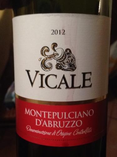 Vicale Montepulciano D Abruzzo 2012 Wine Info