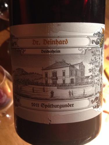 Dr deinhard deidesheim sp tburgunder 2011 wine info for Deinhard wine
