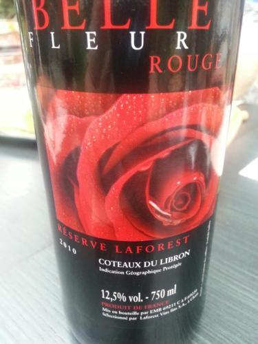 Belle Fleur Rouge Reserve Laforest Coteaux Du Libron 2010 Wine Info