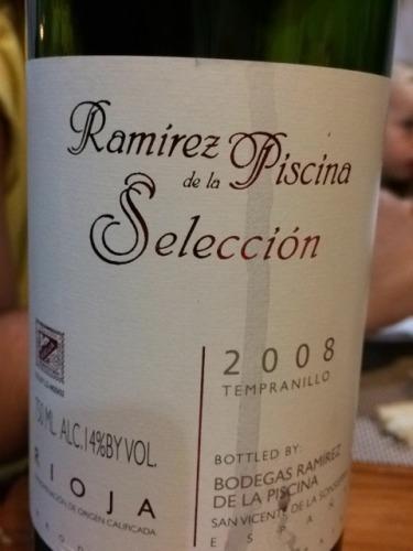 Ramirez de la piscina seleccion rioja tempranillo 2013 wine info - Ramirez de la piscina ...