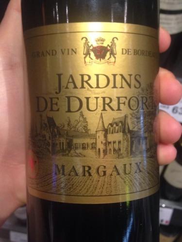 Jardins de durfort margaux for Grand jardin wine