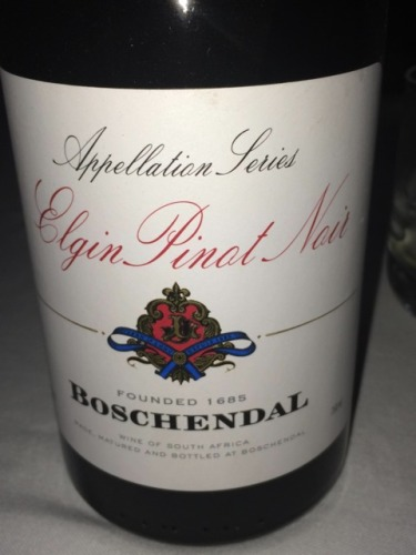 Boschendal pinot noir elgin wine info for Boschendal wine