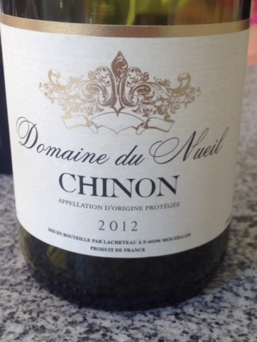 Du nueil chinon red wine info for Chambre red wine