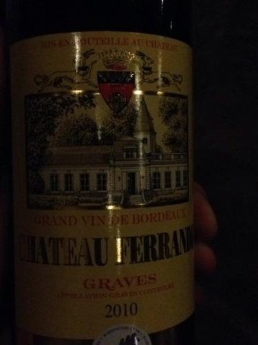 Ch teau ferrande graves 2010 wine info for Chateau ferrande