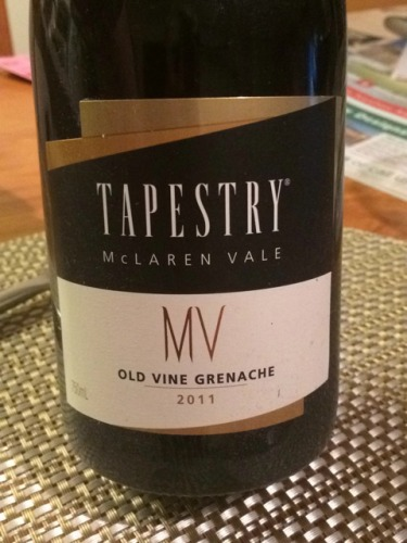 Tapestry Mclaren Vale Old Vine Grenache 2012 Wine Info