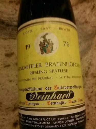 Wegeler deinhard rheingau oestricher lenchen beerenauslese for Deinhard wine