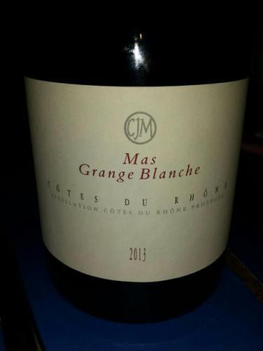 Mas grange blanche c tes du rh ne 2013 wine info - Urgence grange blanche ...
