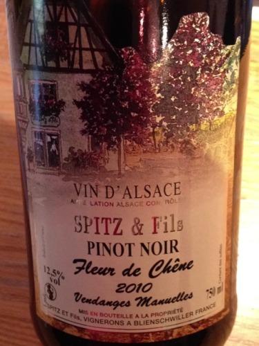 Spitz Fils Vin D Alsace Fleur De Chene Pinot Noir Wine Info