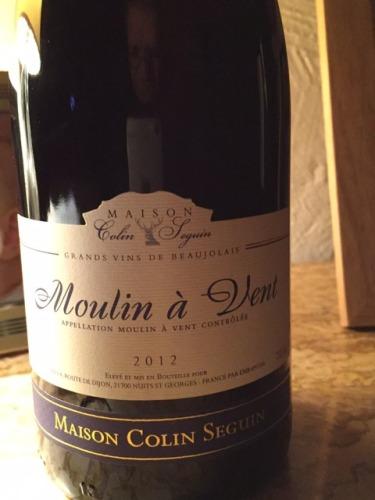 Maison colin seguin moulin vent 2012 wine info for Champagne seguin