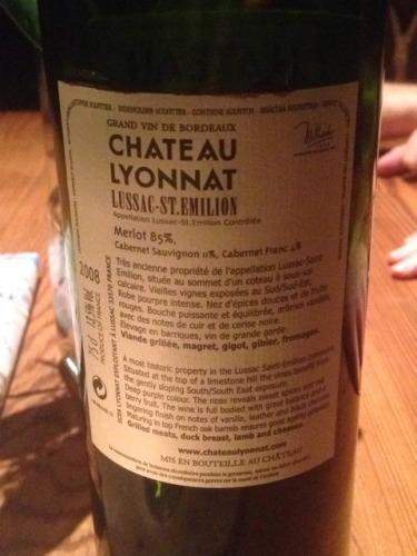 Ch teau lyonnat lussac st milion 2008 wine info for Chateau lyonnat