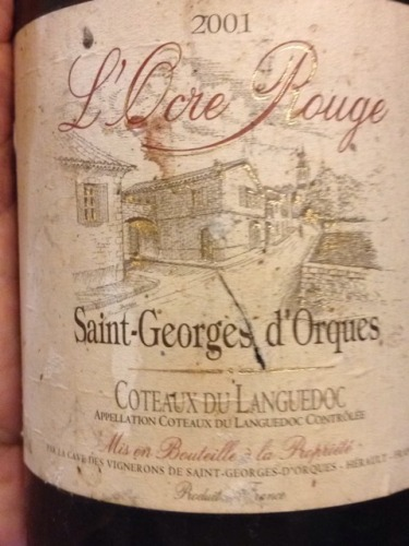 saint georges d 39 orques coteaux du languedoc l ocre rouge 2001 wine info. Black Bedroom Furniture Sets. Home Design Ideas