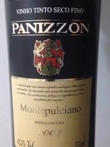 Panizzon Vino Tinto Seco Fino Montepulciano 2007 | Wine Info