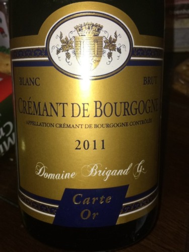 Carte Bourgogne Blanc.Domaine Brigand Carte Or Cremant De Bourgogne Blanc Brut 2011 Wine