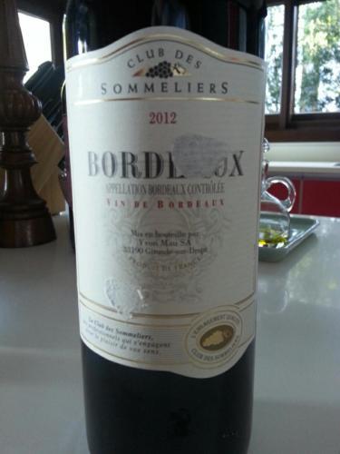 Club des sommeliers bordeaux 2012 wine info for Discotheque a bordeaux