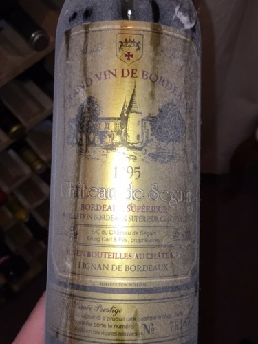 Ch teau de seguin cuv e prestige bordeaux sup rieur 1995 for Champagne seguin